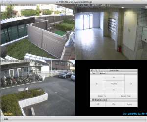 Evocamを使いMacから監視。遠隔操作もできて便利。