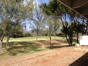 リビングのすぐ外はゴルフコースです。