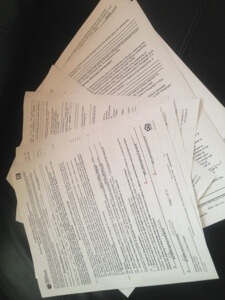 今回したためた契約書です。