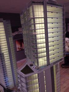 リッツタワー2 東側から26階以上の2、3ベッドルームセクション