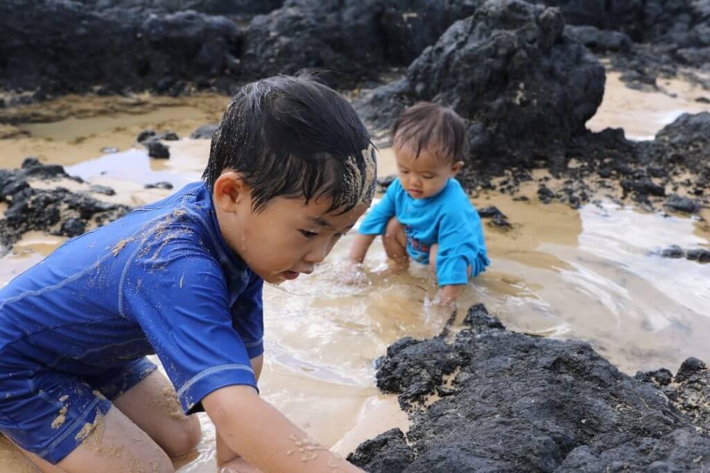 ハワイで大家:ビーチタイム1