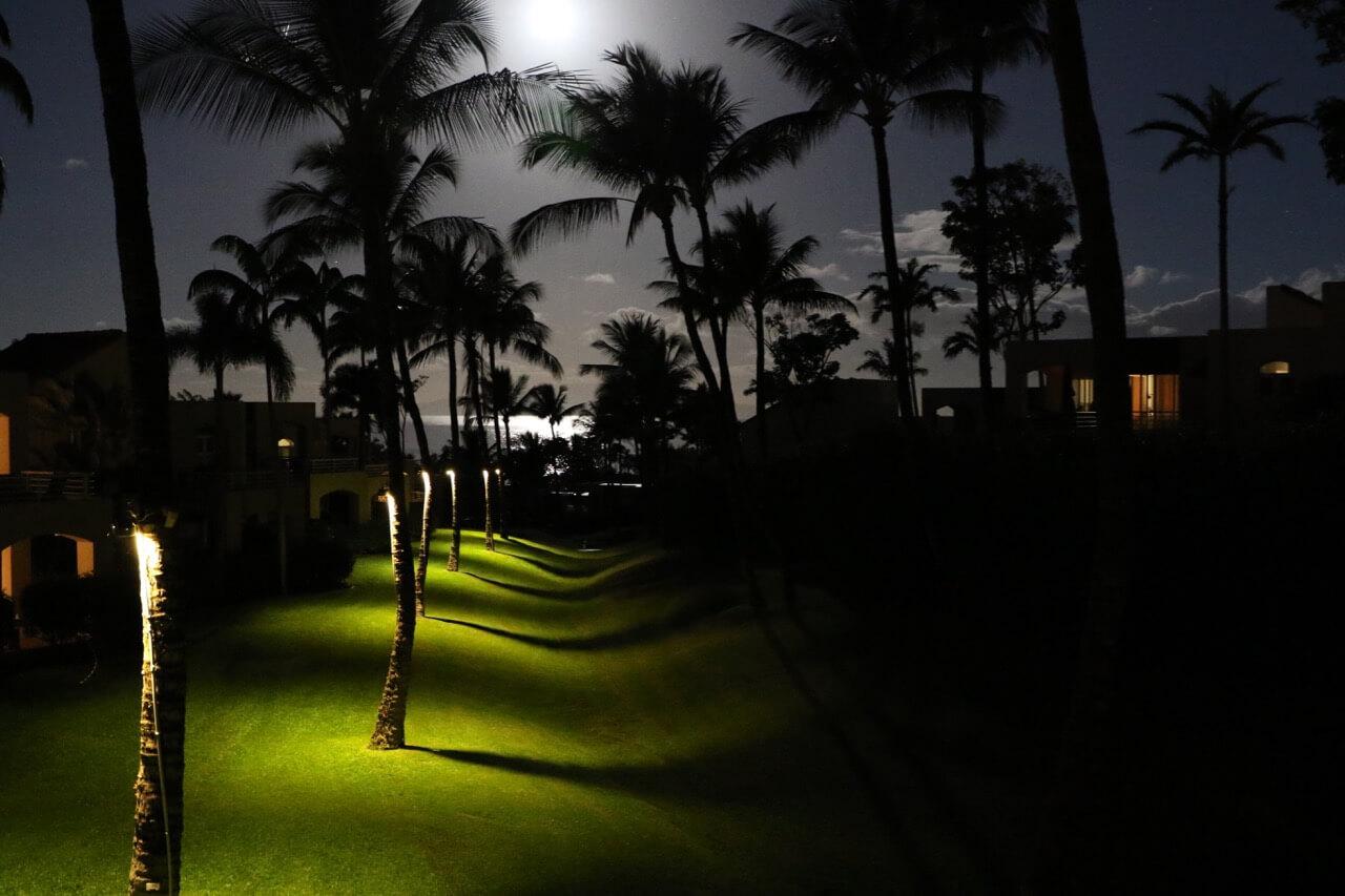 ハワイで大家:マウイ島の宿からの眺望