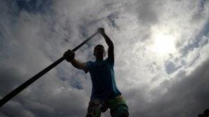 ハワイで大家:沖縄真栄田岬でSUP