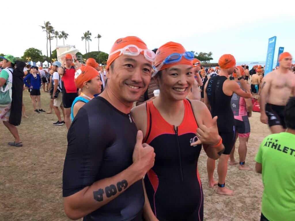 ハワイで大家:夫婦でトライアスロン2019