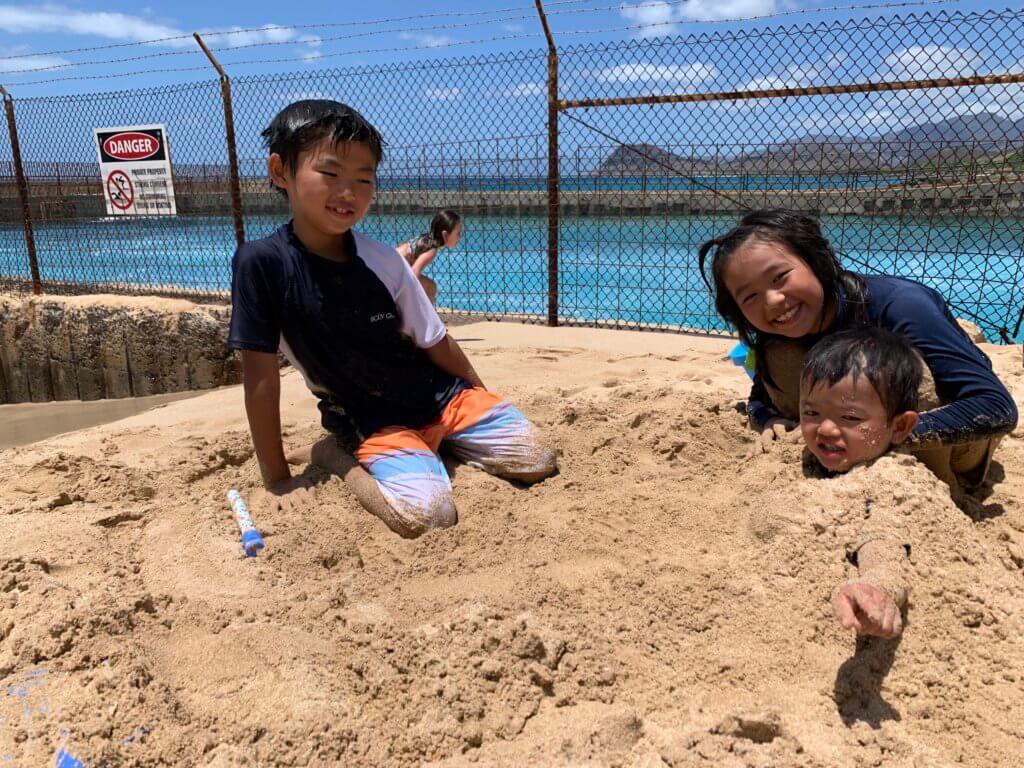 ハワイで大家:イルカ見れてよかったね〜。
